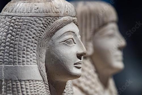 Fényképezés  Pendua and Nefertari Statue close up detail