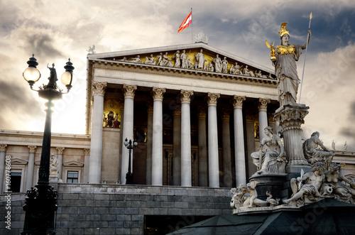 fototapeta na lodówkę Austrian Parliament Building in Vienna (Austria)