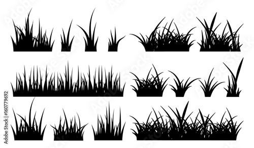 monochrome illustration of grass vector silhouettes buy this stock vector and explore similar vectors at adobe stock adobe stock grass vector silhouettes