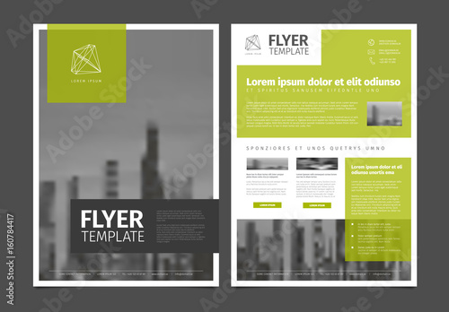 Fototapeta Modern brochure template flyer design vector template obraz