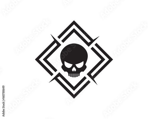 Photo  Skull Logo Template Design Vector, Emblem, Design Concept, Creative Symbol, Icon