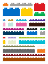 Toy Building Pieces In Vector (easily Modifiable For Graphic Designers)