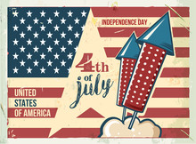 4th Of July Poster. Grunge Ret...