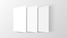 3D Mockup Mobile App Interface. Blank App Screen. Horizontal 9:16 Aspect Ratio In White Color Tone Created By Vector Easy To Use For User Interface And User Experience Design.