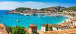 canvas print picture - Spanien Mittelmeer Küste Bucht von Port de Soller Mallorca