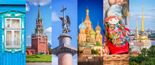 Russia, Panoramic Photo Collag...