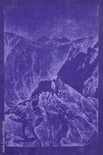 Cadres-photo bureau Violet Montagne