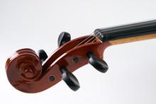 Close-up Details Of Violin Hea...