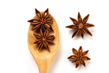 Close Up The Brown Star Anise ...