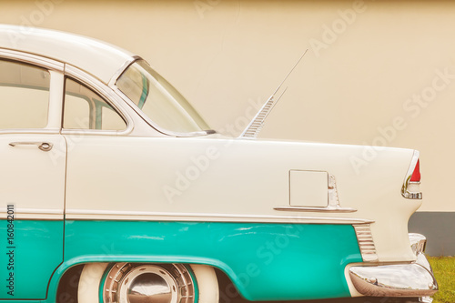 Side view of a fifties two toned American car
