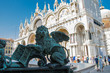 Markuslöwe Stadtwappen Venedigs am Markusplatz