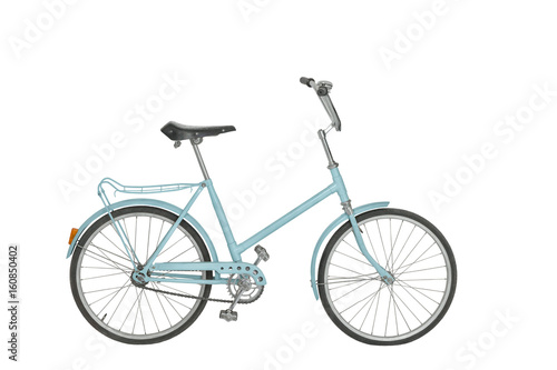Aluminium Prints Bicycle Old bicycle on white background