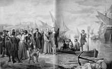 Christopher Coilumbus At Palos Harbour (Cartagena) - Possible Departure Point For Columbus' First Expediton To The New World