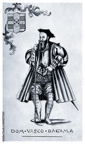 Cuadros en Lienzo Vasco da Gama, portuguese explorer (1460 - 1524) and seafarer, who discovered th