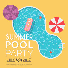 Summer Pool Party Invitation. ...
