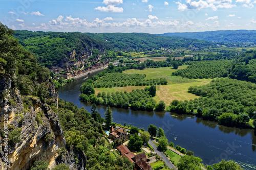 Paysage de Dordogne Canvas Print
