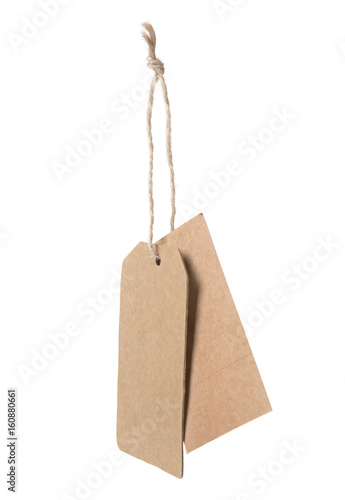 Brown Blank Price Tag Isolated On White Background Buy This Stock