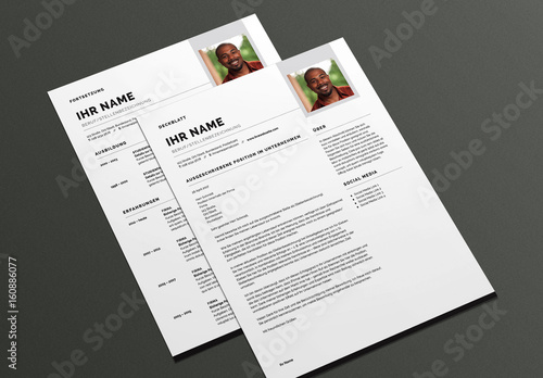 Modernes Lebenslauf Und Deckblatt Layout Buy This Stock Template