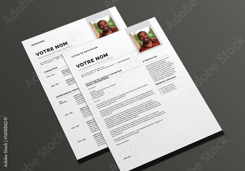 mod u00e8le de cv et lettre de motivation