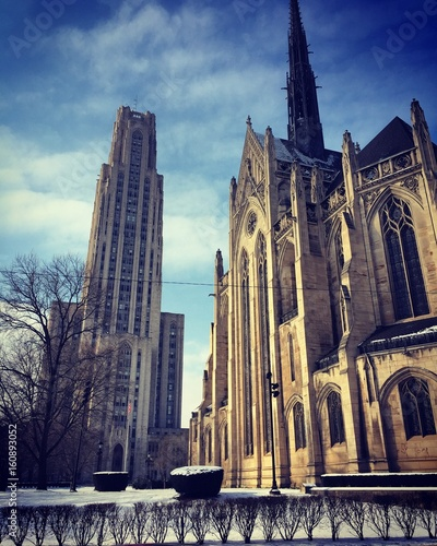 Photo  Heinz Chapel and the Cathedral of Learning
