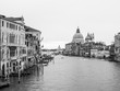 Beautiful view of famous Canal Grande with Basilica di Santa Maria della Salute. View of Canal Grande from Accademia's bridge. Venice, Italy.