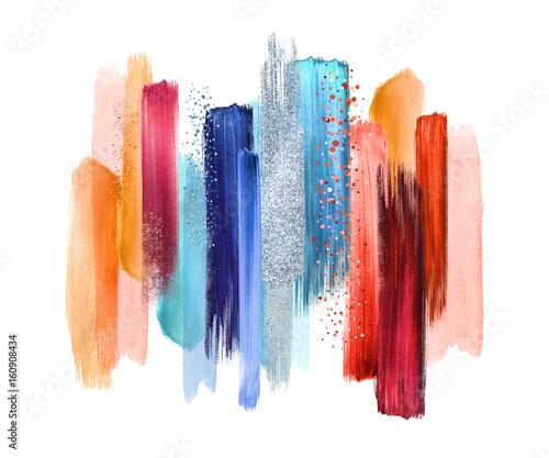 abstrakcyjne-pociagniecia-pedzlem-akwarela-na-bialym-tle