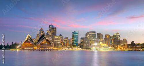 Canvas Prints Sydney Downtown Sydney skyline