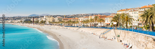 Spoed Foto op Canvas Nice France Nice Mediterranean beach