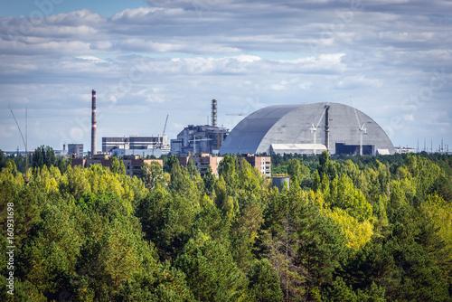 Fotografie, Obraz  Aerial view of Chernobyl Exclusion Zone, Ukraine