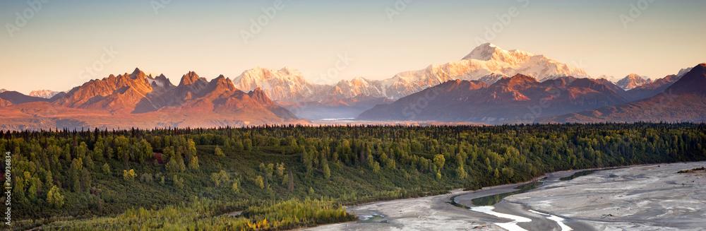 Fototapety, obrazy: Denali Range Mt McKinley Alaska North America