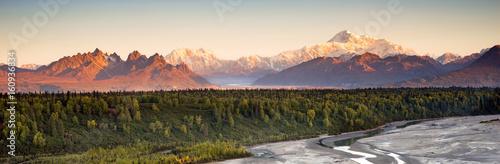 Photo Denali Range Mt McKinley Alaska North America