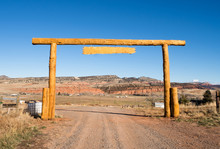 Ranch Entrance Gate Country Fa...