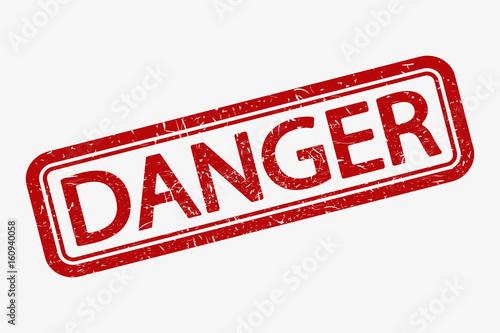 Fotografie, Obraz  Danger stamp. Vector.
