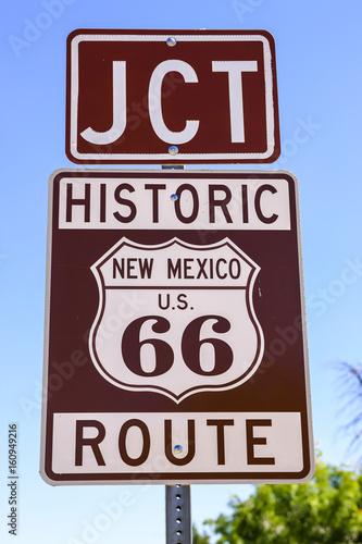 Fotografie, Obraz  Historic Route US 66 signpost in Tucumcari New Mexico, USA