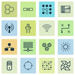 Learning Icons Set. Collection Of Laptop Ventilator, Radio Waves, Computing Problems And Other Elements. Also Includes Symbols Such As Base, Solution, Diagram.