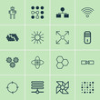 Robotics Icons Set. Collection Of Mainframe, Atomic Cpu, Cyborg And Other Elements. Also Includes Symbols Such As Robot, Cpu, Variable.