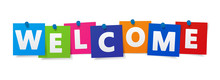 Welcome Sign Colorful Paper No...