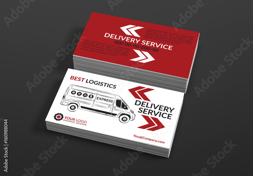 Delivery service business card layouts buy this stock template and delivery service business card layouts colourmoves