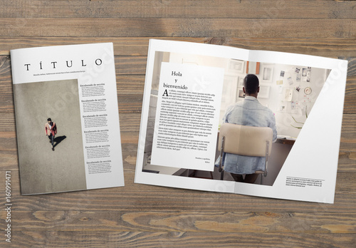Dise o de revista minimalista buy this stock template and for Design minimalista