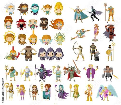 Photo  gods and mythological creatures from greek and roman mythology
