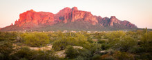 Superstition Mountain At Sunset