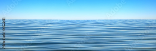 Foto auf Gartenposter Wasser Panorama of sea waves against the blue sky
