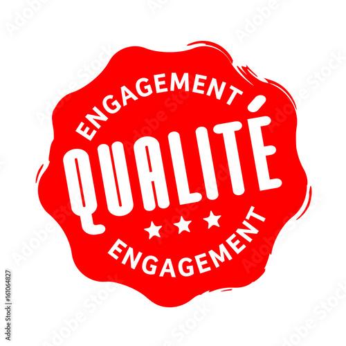 Obraz Engagement qualité - fototapety do salonu