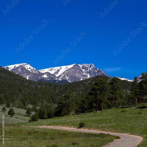 Scenic drive through Upper Beaver Meadow views Long's Peak