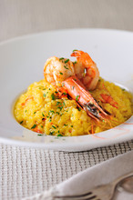 Saffron Risotto With Grilled K...