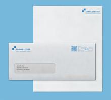Mockup Post Envelope And Letter Paper Template