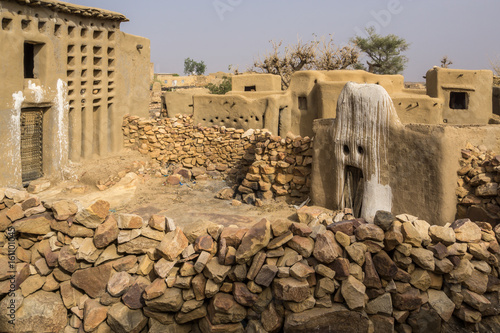 Photo House of the Animist Hogon in the Village of Sangha, Dogon Country, Mali
