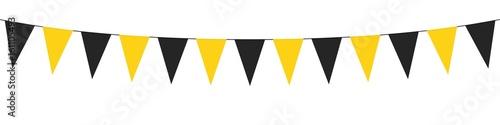 Obraz Guirlande, fanions jaunes et noirs - fototapety do salonu