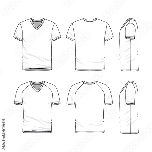 b9bd5b1bb430 Vector templates of clothing set. Front