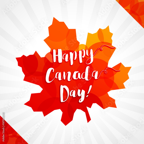 Happy canada day vector greetings canadian flag elements and colors happy canada day vector greetings canadian flag elements and colors maple leaf white m4hsunfo